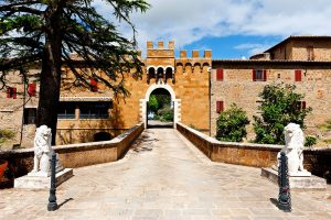 Photography of Fortification wall surrounding the medieval city of Montorio