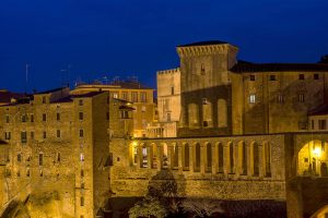Photography of Pitigliano at night