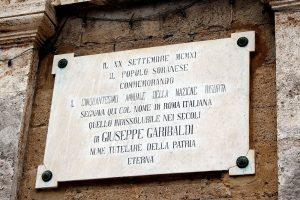 Photography of Garibaldi Memorial Plaque in Sorano