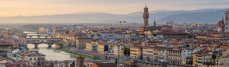 Panoramic photo of Florence, the heart of the Renaissance