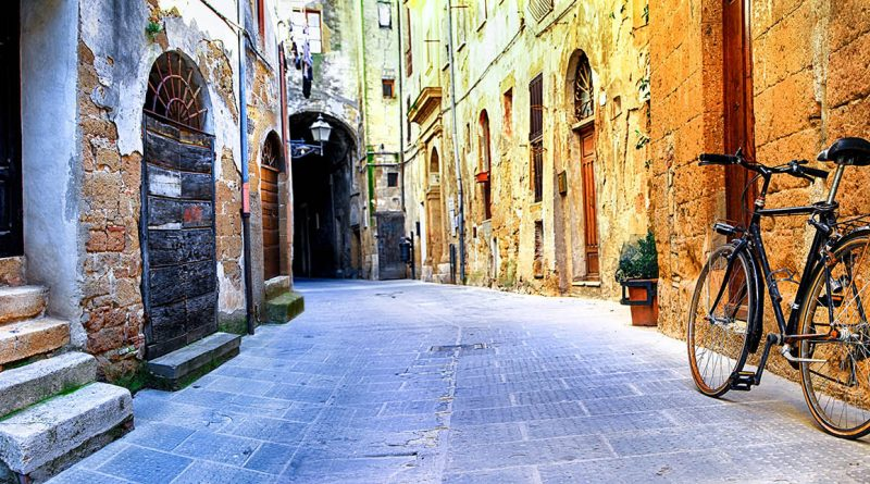 Photography of picturesque street in Pitigliano