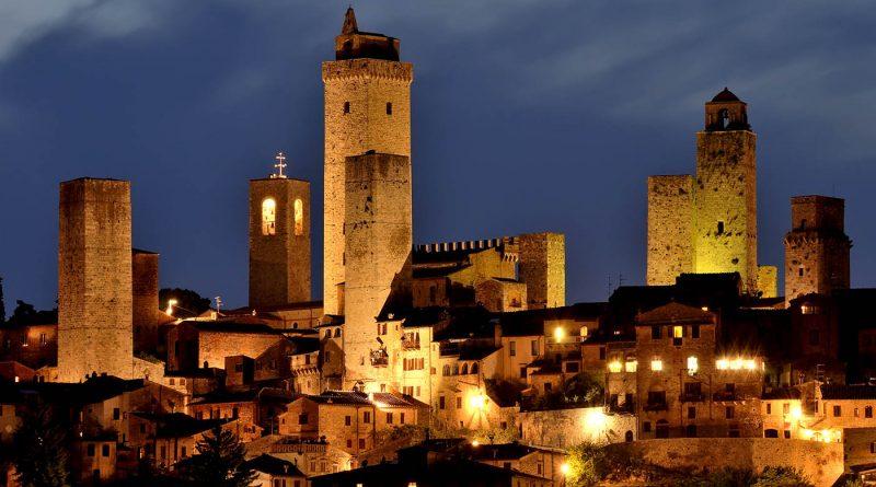 Photography of San Gimignano panoramic view